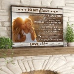 Personalized Never forget that I love you life is filled with poster canvas best gift with custom photo and text for son for daughter Poster
