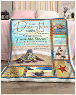 To My Daughter I Am The Storm Love You Forever And Always Turtles Blanket Gift From Mom To Daughter Quilt Blanket