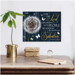 For the Lord takes pleasure in his people Dandelion and Butterflies Canvas poster canvas best gift for jesus lovers Poster