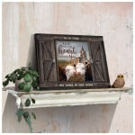 God knew my heart needed you personalized church & couple cows anniversary poster canvas gift for couple with custom names & date Poster