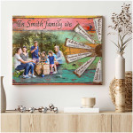 Personalized In this family we tell the truth love one another poster canvas best gift with custom photo and text for family Poster