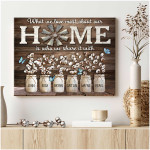 What we love most about our home is who we share it with custom text poster canvas gift for home decor Poster