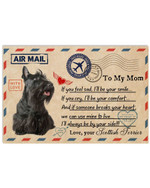 Air Mail Always To My Mom By My Side Scottish Terrier Poster Gift For Scottish Terrier Lovers Scottish Terrier Moms Poster