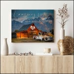 Loving you is a wonderful way to spend a lifetime old truck custom text poster canvas gift for farmer couple Poster