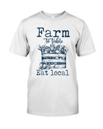 Farm To Table Eat Local show the love for work Fruit basket t shirt best gift for farmer Tshirt