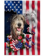Irish Wolfhound Nation America Flag Country Vertical Poster Gift For Irish Wolfhound Lovers Irish Wolfhound Moms American Poster