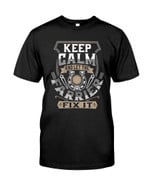 Keep Calm And Let The Farrier Fix It show the love for work t shirt best gift for Farrier Tshirt