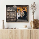 All of us love all of you custom photo couple name poster canvas wedding anniversary gift for couple Poster