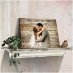 God gave me you custom name photo poster canvas wedding anniversary gift for couple Poster