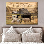 Animals may your journey always lead you home farmhouse poster canvas gift for farmer Poster