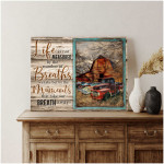 Trucks Life is not measured by the number of breaths Farmhouse poster canvas best gift for farmer Poster