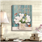 Whispered words of wisdom let it be butterflies flowers funny poster canvas decor gift for women Poster