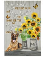 German shepherd my mind still talks to you my soul knows you are at peace memorial poster canvas gift for loss of relative Poster