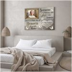 Because someone we love is in heaven custom photo memorial poster canvas gift for loss of relative Poster