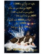 I Will Be Waiting Through The Years Boston Terrier Poster Memorial Gift For Loss Of Boston Terrier Poster