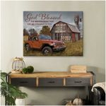Custom couple name god blessed the broken road that led me straight to you poster canvas gift for god lovers Poster