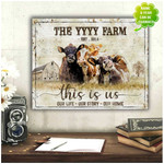 Personalized text this is us our life our story our home poster canvas gift for farmer Poster