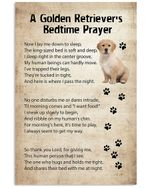 A golden retriever's bedtime prayer now I lay me down to sleep vintage poster canvas gift for golden retriever lovers dog lovers Poster
