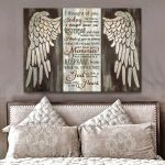 Today i thought of you but that is nothing new i have you in my heart memorial poster canvas gift for loss of relative Poster
