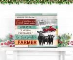So God made a farmer Cows Truck Christmas poster gift for cows lovers farmers christmas lovers Poster