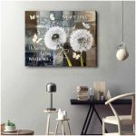 Dandelion what if i fall ih but my darling what if you fly motivation gift for decor Poster