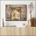 You are loved for the little girl you will always be personalized poster canvas gift for loved daughter with custom name & photo Poster