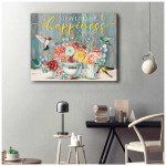 Today I choose Happiness Hummingbird flowers Wall Art Decor poster canvas best gift for Hummingbird lovers Poster