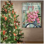 Today I choose joy beautiful pink flowers bicycle & hummingbirds poster canvas gift for hippie soul Poster