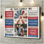 Personalized In This Family We work hard poster canvas best gift with custom photo for family Poster