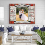 Take my hand falling in love with you personalized wedding anniversary poster canvas gift for couple with custom names photo & date Poster