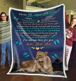 To my beautiful daughter you are the beat of my heart love your mom gift for daughter Quilt Blanket
