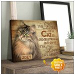 The loss of a cat is immeasurable the love left behind custom name and photo cat memorial poster canvas gift for loss of cat Poster