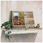 The most wonderful thing life & heart with you personalized horse in farmhouse poster canvas gift for couple with custom name & date Poster