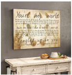 You are my world you are the hand I have to hold as I grow old Horse poster gift for Staind fans Love Couples Poster