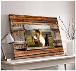 Barn Wood Window Three Horses in the field wild poster canvas best gift for horse lovers Poster