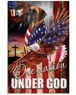 One Nation Under God Great Dane Vertical Poster Gift For Great Dane Lovers Great Dane Moms American Poster