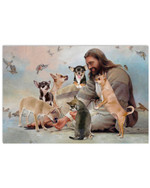 God Surrounded By Chihuahua Angels Horizontal Poster Gift For Chihuahua Lovers Chihuahua Moms Poster
