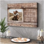 Every love story is beautiful but ours is my favorite custom name date photo poster canvas gift for couple Poster