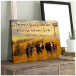 May every sunrise hold more promise and every sunset peace Cows Farm Poster gift for Cows Lovers Farming Farmers Poster