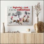 it is beginning to look a lot like Christmas Golden Retrievers poster canvas best gift for dog lovers for Christmas lovers Poster