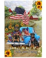 Rottweiler country road take me home to the place i belong us flag poster canvas gift for farmer love rottweiler Poster