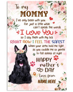 To My Mommy I Love You Happy Mother's Day Scottish Terrier Vertical Poster Custom Gift For Scottish Terrier Lovers Moms Poster