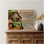 Personalized The secret of life John Deere Tractor and Old Barn Farmhouse poster canvas best gift with custom text for husband for wife Poster