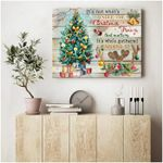Personalized Under The Christmas Tree Wall Art Decor poster canvas best gift with custom text for Christmas lovers Poster