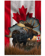 Moose Canada Country Proud Nation Vertical Poster Gift For Moose Lovers Moose Moms Poster