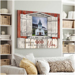 I thank my God everytime i think of you blue church poster canvas best gift with custom text for husband for wife Poster