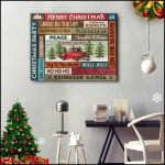 Merry Christmas Jingle All The Way Stanta Claus Truck Poster gift for Christmas Holiday Lovers Poster