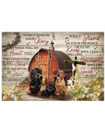 Dachshund Surrounded By God Glory what will my heart feel farmhouse poster canvas best gift for dog lovers Poster