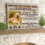 God saw you getting tired broke our hearts to prove to us custom name photo pet poster canvas memorial gift for loss of pet Poster
