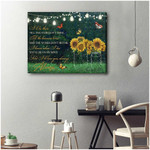 I Will Be There Till The Stars Don't Shine Till The Heavens Always Sunflowers Butterflies poster memorial gift for loss of loved someone Poster